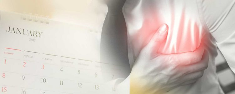 Januar stellt sich als gefährlichster Monat für Herzinfarkte heraus